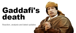 Al Jazeera covers Gaddafi's death